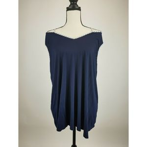 Skies Are Blue Womens Blouse Top 2X Blue A82-12